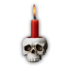 ベストセラーの製品の樹脂のHalloweenの装飾の頭骨の整形蝋燭ホールダー