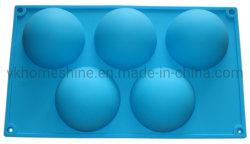 5 Höhle-Ei-Form FDA Standardsilikon-Backen-Hilfsmittel-Kuchenform-Silikon-Kuchen-Form