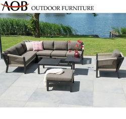 現代商業ハンドメイドの屋外の庭の家具のバスケットのロープによって編まれるラウンジチェアの機能ソファー