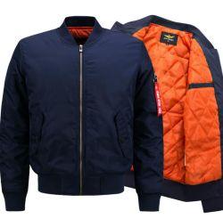 Мужчин в открытый куртка индивидуального логотипа Plus-Size теплый мягкий бомбардировщик куртка слой с эмблемой и вышивки
