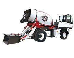 4.5 입방 미터는 펌프를 가진 디젤 엔진 구체 믹서 트럭 차원을 사용했다