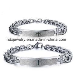 Mode Bibel Schrift Kreuz Edelstahl Liebhaber Paar Armband