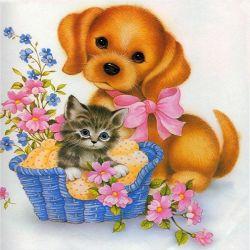 5D-Diamond окраска камней собак и кошек