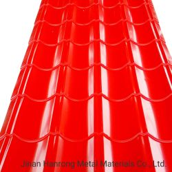 مواد البناء سقف معدني مطلي بلوزينك من نوع PPGI/PPGL مطلي بلون ألو-زينك ورقة مطلية مسبقا مغلفنة/غالفالومي ورقة سقف من الصلب المموج