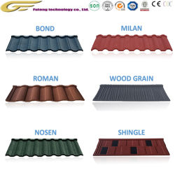 Feuille de prix de matériaux de construction en pierre des matériaux de toiture Toits de Tuiles Tuiles