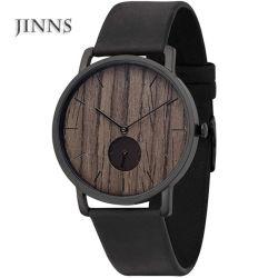 2019 [جينشي] عمليّة بيع حارّ ساعة نبيلة خشبيّة سوداء لأنّ رجال مع جلد نطاق