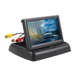 Carro Dobrável 4.3inch Vista traseira de estacionamento LCD TFT Monitor de Ré