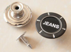 Los extensores de la cintura de cobre desplazando Tack virada Denim Jeans teclas B289