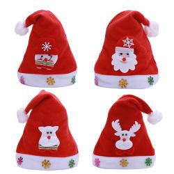 Weihnachtsförderndes Geschenk kundenspezifisches Sankt-Weihnachten Red Hat und Schutzkappe