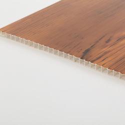 WPC текстуры с деревянной отделкой деревянными панелями на потолке изолированный внутренней стенки покрытие панели