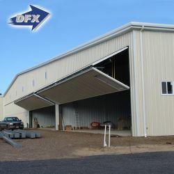 Costruzione prefabbricata della struttura d'acciaio del magazzino del capannone dei velivoli del blocco per grafici industriale del metallo