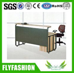PT-12, mostrador de recepción de mobiliario de oficina escritorio moderno Retangle madera Tabla de metal