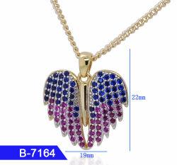 In het groot Kunstmatige Juwelen 925 van de Manier de Echte Tegenhanger van het Hart van het Zirkoon van het Zilver of van het Messing voor Meisje