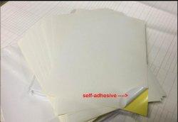 100 impresión llena de la inyección de tinta del laser de la escritura de la etiqueta de la hoja del papel auto-adhesivo brillante blanco de la etiqueta engomada de X A4