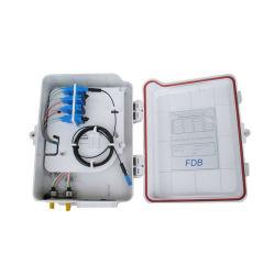 Wet preuve Boîtier de terminaison de fibre optique PVC SM 9 / 125 um, boîte à bornes en plein air pour système FTTH