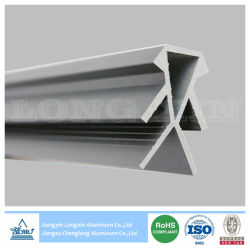 Profil en aluminium anodisé argent pour l'exposition
