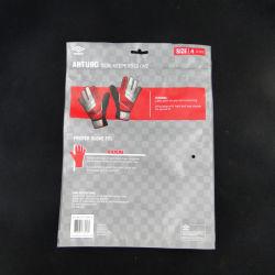 Sacos para embalagem de luvas de design personalizado com fecho zip resselável