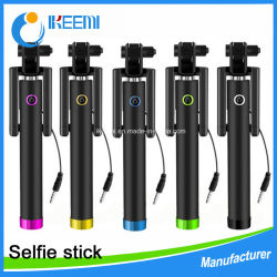 acessórios para telemóvel móvel 80cm do obturador com fio Monopod Dobrável Selfie Stick