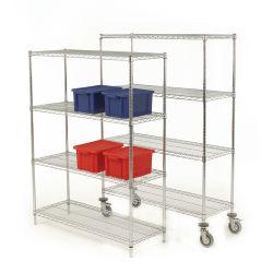 コマーシャルの調節可能なクロム金属線ラック棚の棚付けの単位
