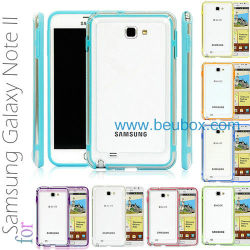 Cas de pare-chocs en plastique pour Samsung Galaxy Note 2 Ii gt-N7100
