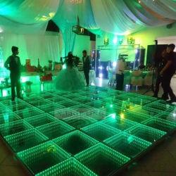 Fête de mariage stade LED lumière plancher de danse de verre