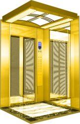 Material de acero inoxidable ascensor ascensor de pasajeros de distintos estilos de decoración de la cabina