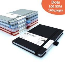 Ispessire 100 il taccuino semplice del giornale di stile A5 del giornale del richiamo di GSM con 80 strati
