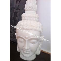 Kundenspezifischer Onyx-Stein-fromme Buddha-Hauptstatue-Fehlschlag-Abbildung Skulptur