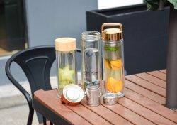 Оптовая торговля экологически безопасные бисфенол-А двойные стенки стеклянной чай автоклавы-термос с затянутыми FL3003 крышки багажника