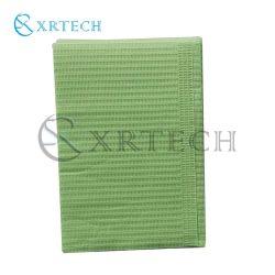3 capas de color verde Babero Dental desechable con CE