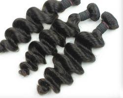 Il tessuto brasiliano dei capelli del Virgin dell'onda allentata nera naturale impacchetta le parti di estensione dei capelli umani