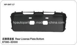 pièces de rechange automatique - plaque minéralogique arrière en bas pour la Hyundai Sonata