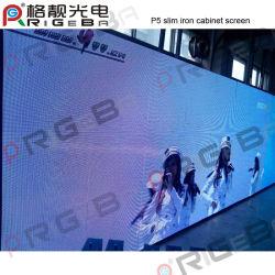 شاشة عرض LED داخلية بالكامل مزودة بتقنية P5 فائقة النحافة من نوع LED بحجم خزانة