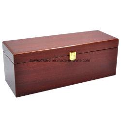 Hoge Sapele polijst Vakje van de Gift van de Verpakking/van de Presentatie van de Wijn van de Afwerking het Houten