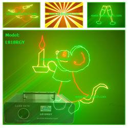 Анимация лазер 300 Мвт RGY этапе лазерное шоу системы