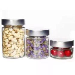 Tour personnalisé large bouche Ergo Jam Jar de miel en verre avec languette de tôle de couvercle de torsion