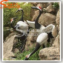La decoración de jardín escultura artesanía artificial de aves de fibra de vidrio