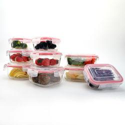 準備のNaturalsのガラス食事の準備の容器-ふたの食事の準備が付いている食糧準備の容器-食糧貯蔵容器気密24oz 30oz 32oz
