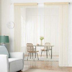 Los paneles de cortina de la cadena de tejer una densa cortina de puerta de la cortina de Halo separador de ambientes para la decoración de ventana de la puerta
