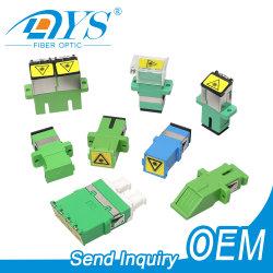 Sc/LC/FC/ST/MU/MTRJ/MPO Simplex/duplex/Quad/Monomodo Multimode OM3/OM4/APC sorriso ou Hybrid Fiber Optic/Adaptador Óptico