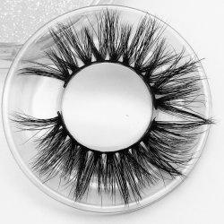 Venta caliente Super 25mm de longitud de la piel de visón de lujo en 3D de pestañas, pelo de visón pestañas para que las Partes Cosmetic