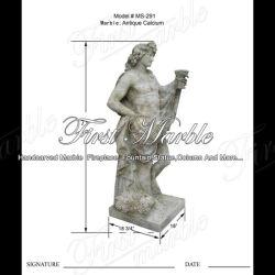 Antique travertino escultura para la decoración del hogar MS-291