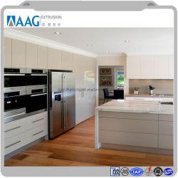 Современная деревянная зерна алюминиевый корпус мебели для кухни