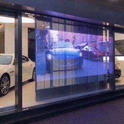 LED de vídeo transparente impermeável ao ar livre Tela LED de Cortina da janela de vidro para Iluminação (P3.9 P7.8)