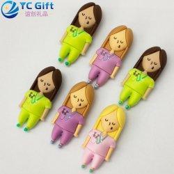 I punti promozionali di Custom Hipster Fashion PVC Key Holder Company hanno reso personale la decorazione domestica Keyfob di gomma dell'automobile delle donne del giocattolo della bambola del fumetto di Keychain per il commercio all'ingrosso