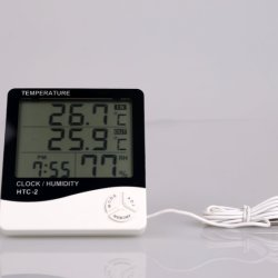 온도와 습도 전시 온도계