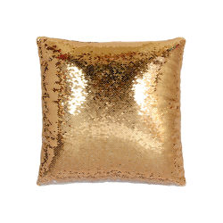 金の昇華ブランクの可逆スパンコールファブリック枕箱のブランクのクッションカバー