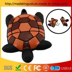 La tortuga pequeña U disco USB de la simulación de los animales PVC/ unidad Flash USB Digital