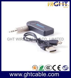 Manos Libres Inalámbrico Bluetooth V3.0 3.5mm estéreo aux Audio hogar música receptor Mic Adaptador de coche