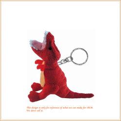 Soft Red Dinosaur Toy adorável animal suporte chave por grosso